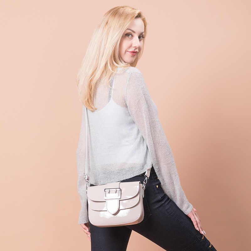 Merek Paten Kulit Tas untuk Wanita Fashion Tas Messenger Wanita Kualitas Tinggi Chain Tas Bahu Wanita Tote Putih