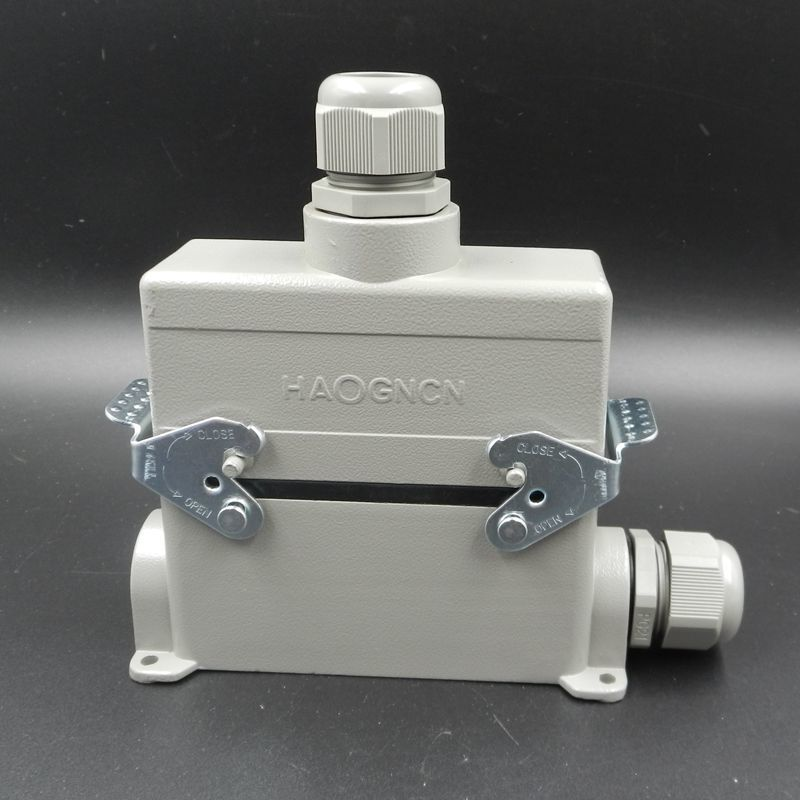 Heavy Load Connector HDC-HE-024-4 Surface Mounted Heat Flux The Road Plug-in Unit 24 Core 16A Rectangle Plug heavy duty connectors hdc he 024 1 f m 24pin industrial rectangular aviation connector plug 16a 500v