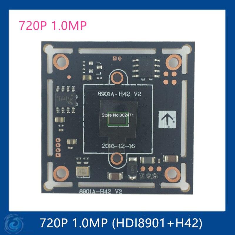 Hybrid board Camera 4 in 1. CCTV Camera Module HDI8901+H42 image sensor board 720P 1.0MP AHD Camera Board.HDI8901+H42 wavelets in image communication 5