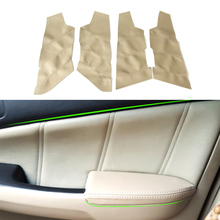 For Honda Accord 7th Gen 2003 2004 2005 2006 2007 4pcs/set Car Door Handle Armrest Panel Microfiber Leather Cover