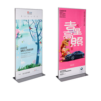 Metal Aluminium Floor Poster Frame Stand Advertising Banner Stand Exhibition AD KT Board Display Banner Rack Floor Banner Stand