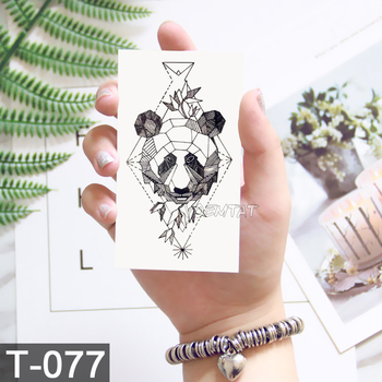 Geometry cool Temporary Tattoo Sticker Women Minimalist lines pattern Body Art New Design Fake Men Tattoos 4