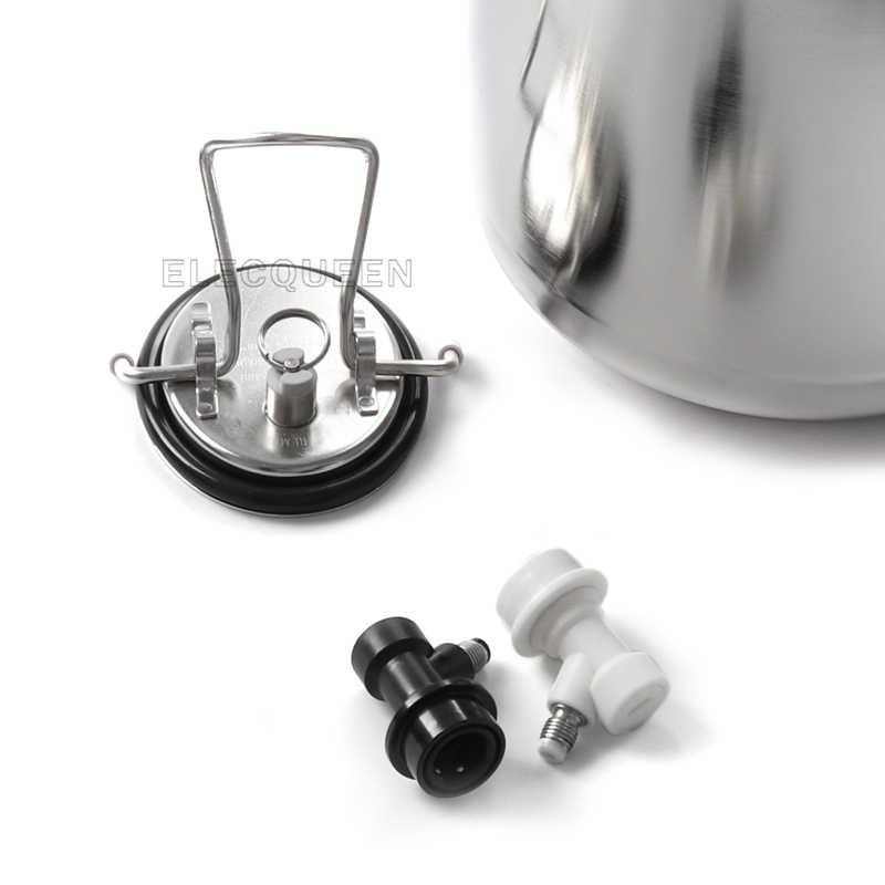 2.5 ガロン 10L コーネリアス樽スタイルステンレス鋼ビール樽 & ビール蛇口タップ & CO2 樽充電器キット、自作セット