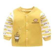 Luna Blanco/детские куртки; детская одежда унисекс с длинными рукавами для новорожденных; хлопковая одежда для маленьких девочек; Зима г.; зимнее пальто с круглым вырезом для маленьких мальчиков