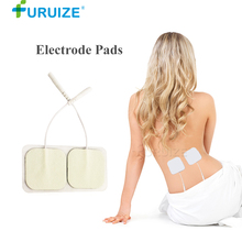 1 pair White Electrode Pads Adhesive Gel use Electric Body Massager Pad Digital Therapy Machine Massager Electric Body Massage wholesale healthy electric full body massager tapping massage chair therapy machine as seen on tv 2016 free shipping