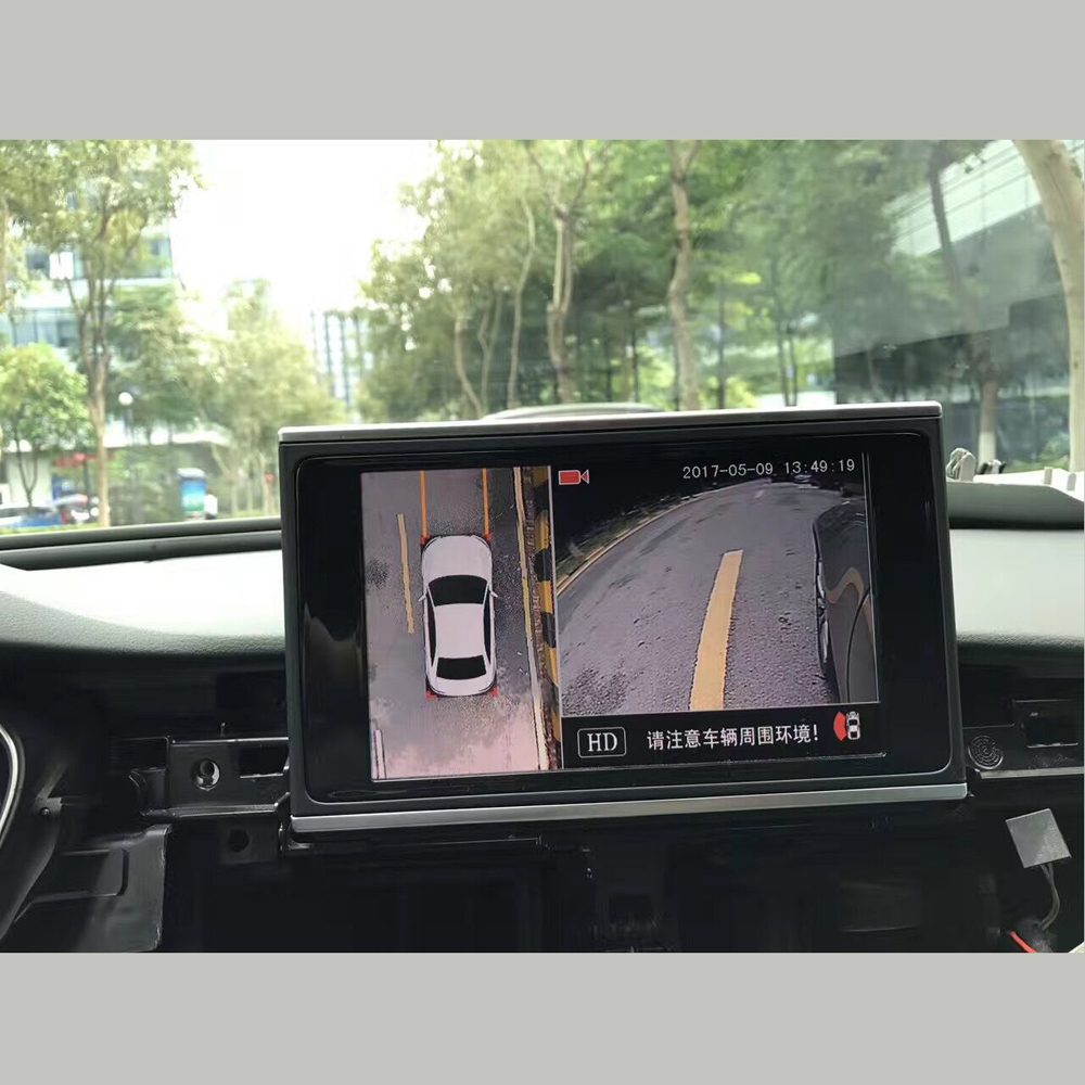 360 degree Bird View surround system car DVR 4 HD camera for Toyota Crown 2011