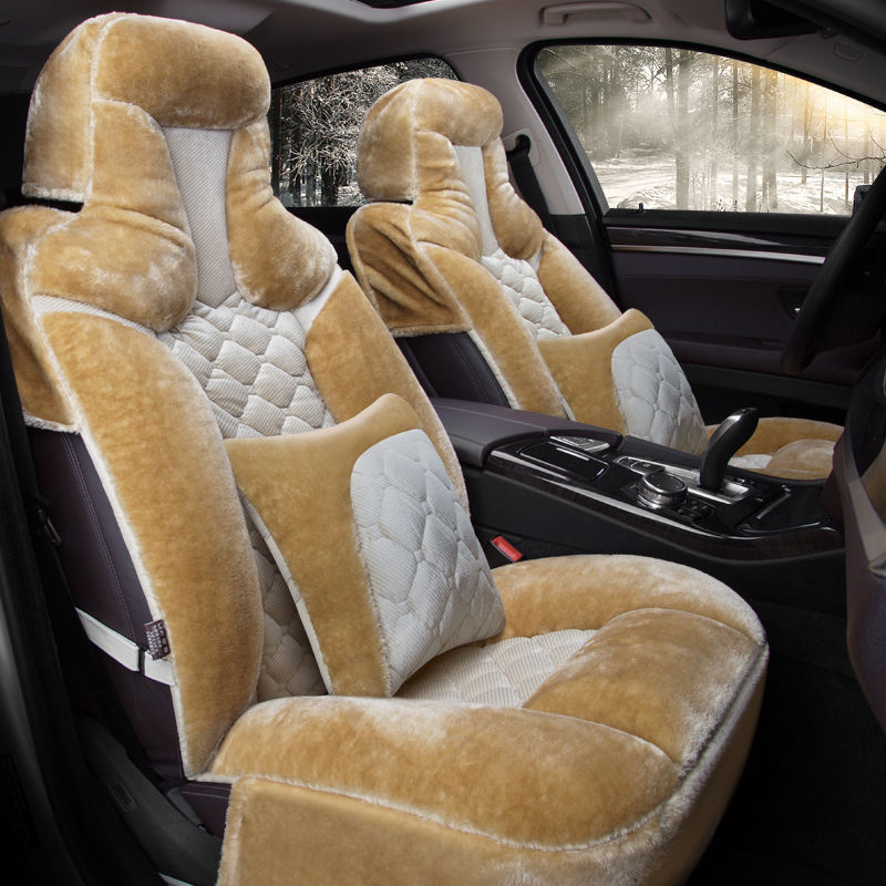 Winter Plush Car Seat Cover Cushion For Toyota Camry Corolla RAV4 Civic Highlander Land cruiser Prius verso Car pad