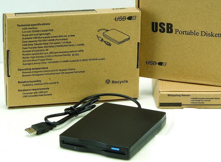 100 pcs/lot 1,44 mb 3,5 ''USB Externe Tragbare Floppy Disk Drive mit einzelhandel paket box-in Festplatte & Boxen aus Verbraucherelektronik bei  Gruppe 1