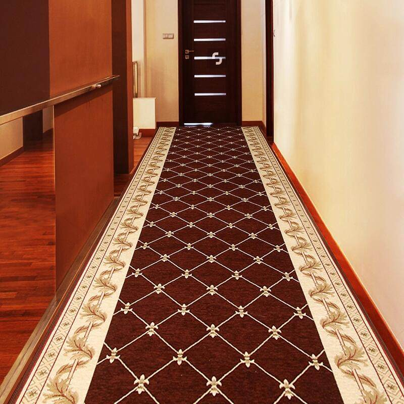 Modern Home Corridor Carpet Hotel Long Rug Decorative Entrance/Hallway Doormat Anti-Slip Stairs Carpet Wedding Floor Rugs