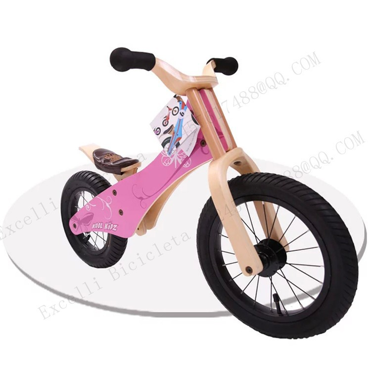 b25-Baby two wheels Wood Balance Bike for 2-6 Years age Bicicleta Infantil Balance Bike Kid's bicycle Common Childen's Cycling