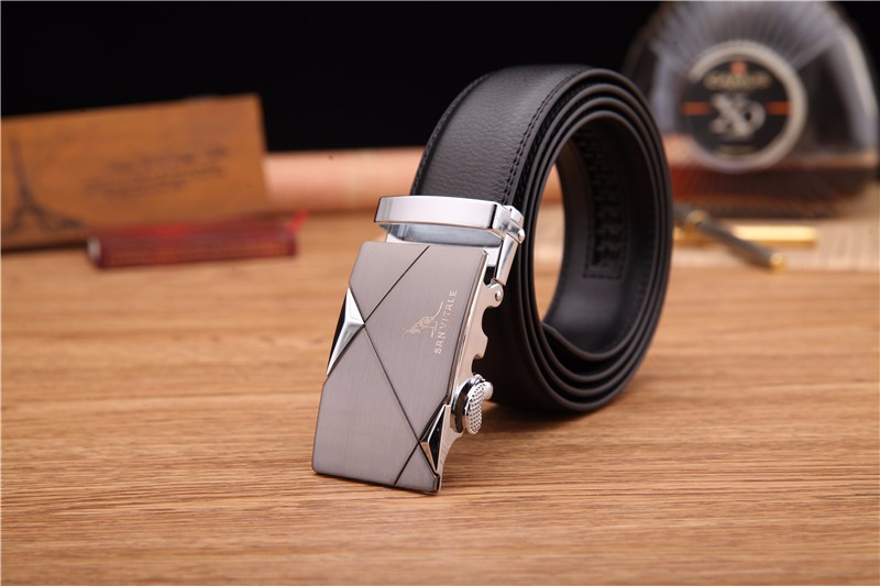 New Designer Men's Belts Luxury Man Fashion Genuine Leather Cowskin Belt for Men High Quality Automatic Buckle Male Waist Strap
