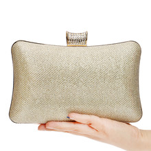 Sequined Women Evening Bags Chain Shoulder Messenger Handbags Diamonds Metal Simple Wedding Party Purse Clutches(China)