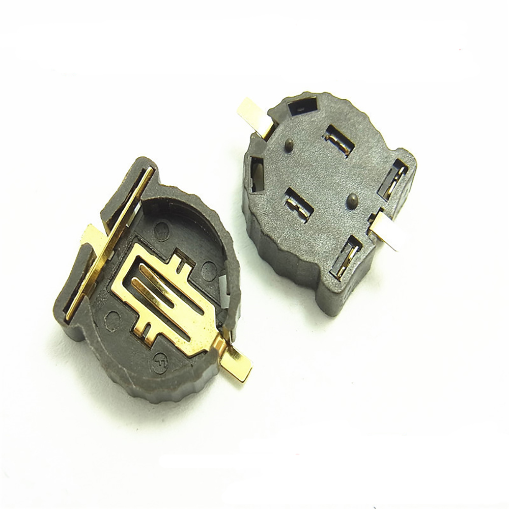50pcs CR1220 CR1225 <font><b>Battery</b></font> Socket, BS-1220-2 SMT <font><b>Battery</b></font> <font><b>Holder</b></font>,3V <font><b>Button</b></font> <font><b>Cell</b></font> Socket,Gold-Plated