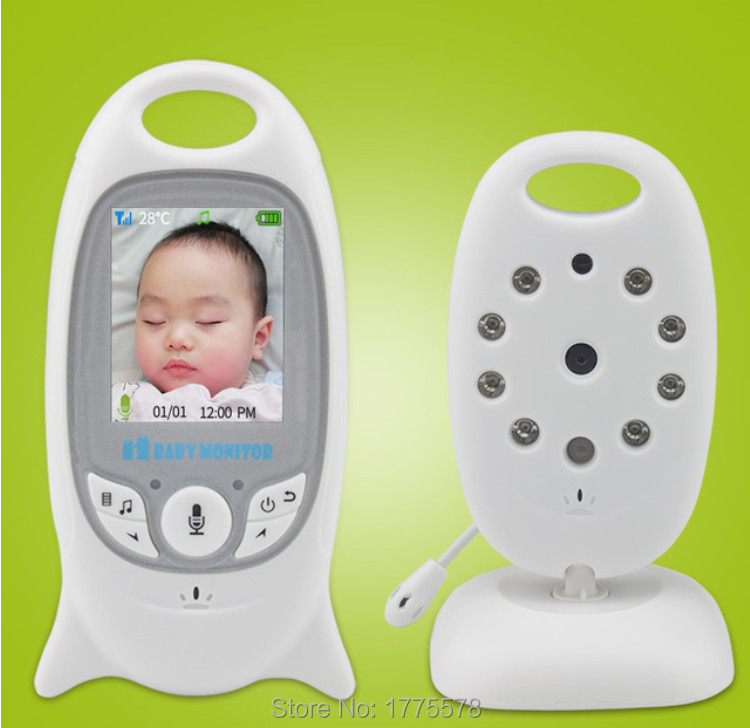 Security 2.4G wireless Video 2.0 inch Color Baby Monitor 2Way Talk IR Temperature with 8 Lullaby NightVision