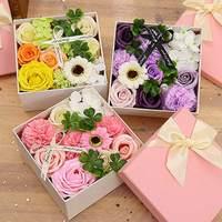 Мягкое имитирующее мыло с лепестками, украшение для дома, праздничный подарок на день матери, роза, гвоздика, декоративные гортензии, цветок