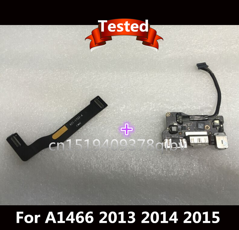 Tested I/O Board Power Audio Board USB DC Power Jack + DC Jack Cable 923 0439 for MacBook Air 13 A1466 821 1722 A 2013 2014