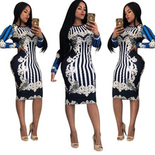 hot deal buy 2018 african dashiki dress fashion new large elastic succunct african tranditional print dashiki dress for women