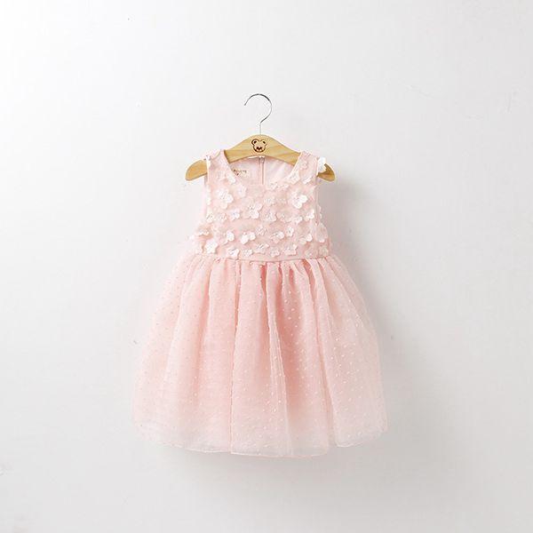 d752fb0afbe62 Style 3 7 Année Princesse partie Robe d été Pour Filles Fleur maille bébé robes  enfants Sleevelesss Flora Costume Adolescent vêtements dans Robes de Mère  et ...