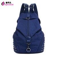 ANNY Newest 2016 Casual Rivets Backpack Women S Rucksack Waterproof Nylon Large Capacity Ladies Travel Backpack