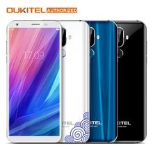 Oukitel K5 4 г 5,7 дюймов 18:9 Дисплей MTK6737T мобильный телефон Android 7,0 2 г 16 г 4 ядра 4000 мАч 3 камер отпечатков пальцев Смартфон