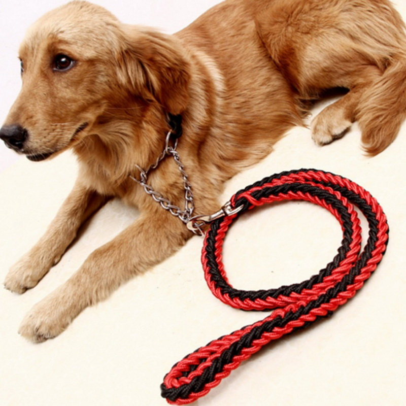 High Quality 130cm Strong Pet Dog Braided Nylon Rope Durable Dog Leash Lead Heavy Duty Anti-slip