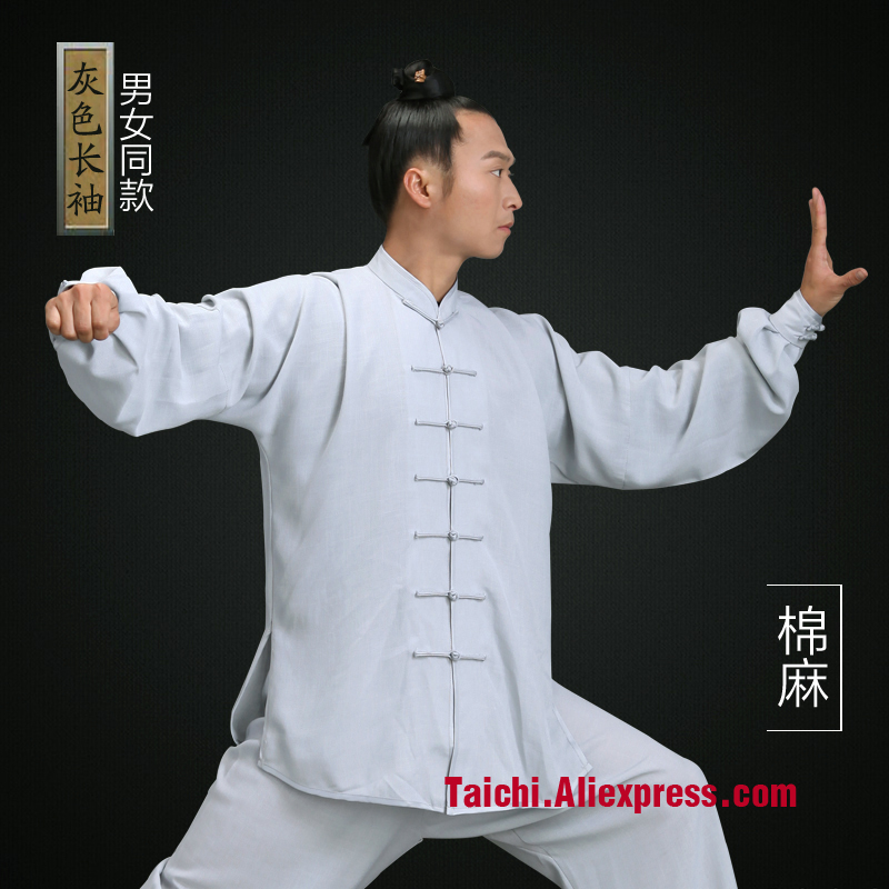 Wudang Tai chi clothing cotton and linen clothes martial arts  men and women  taijiquan ai Chi uniforms Kung Fu performance cotton linen men s yoga suits long sleeved taiji lay clothes plus size breathable meditation martial arts performance clothing