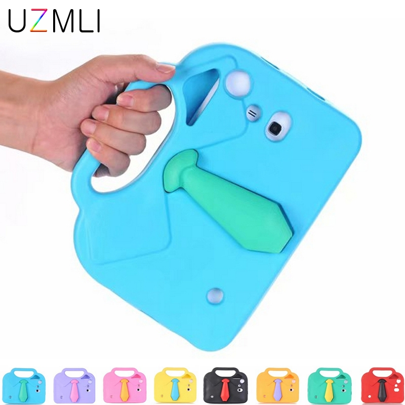 New Tie Kids Universal Case For Samsung Galaxy Tab 3 Lite  4 7inch T230 T231 T210 T211 T110 EVA Shockproof Stand Cover