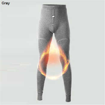 Mens Long Underwear Merino Wool Knee Thicken Thermal Pants Men Winter Cloth Fleece Male Legging Long John Underpants Super Warm