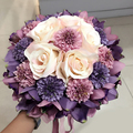 8 Colors Lavender Rosette Artificial flower Wedding Bouquets 2017 Fashion Romantic Wedding brooch bouquets Wedding Accessies P13