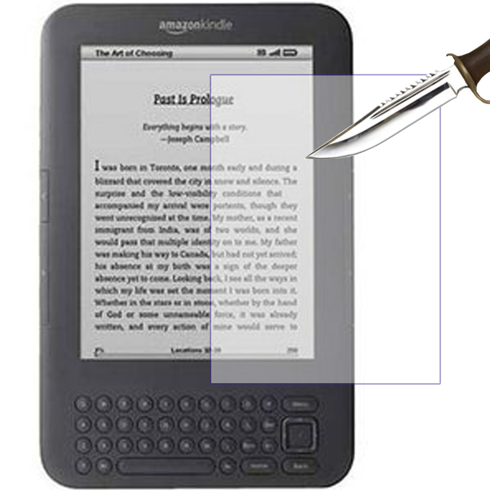 US $3 94 21% OFF tempered glass screen protector for Amazon kindle 3 3th  4th 5th generation 6'' kindle keyboard ereader screen protective film-in