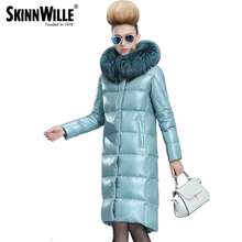 skinnwille 2016 new products down jacket in winter More female in long White duck down even the chinstrap collars