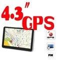 POR DHL O EMS 10 UNID CALIENTE 256 mb 8 gb 4.3 ''pantalla táctil GPS del coche auto GPS navigator DDR 128 MB, built-in 4 GB, mapas gratuitos