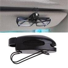 1 Pc Car Auto Sun Visor Clip Holder Para Óculos de Leitura óculos de Sol Óculos De Cartão de transporte da gota