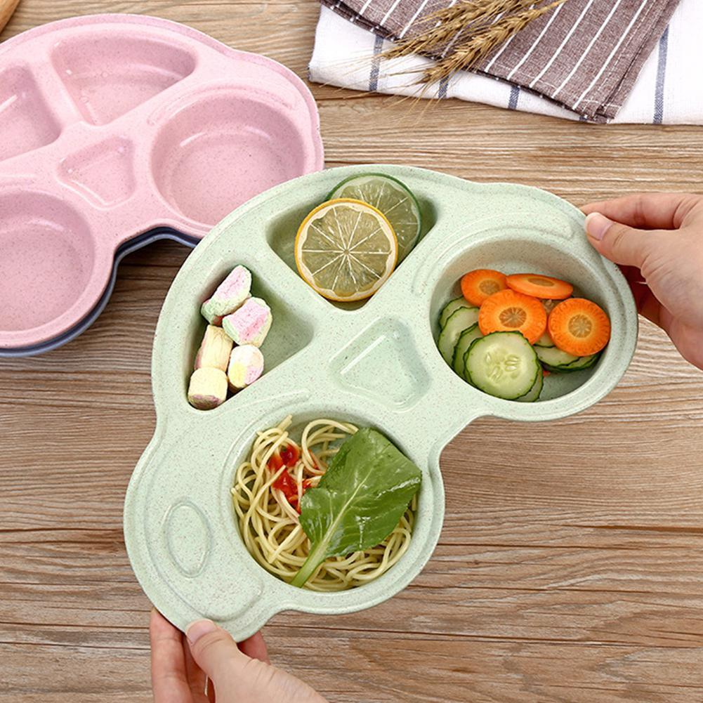 Cartoon Cute Baby Feeding Rice Bowls Plate Chidren Toddlers Snack Dish Tableware
