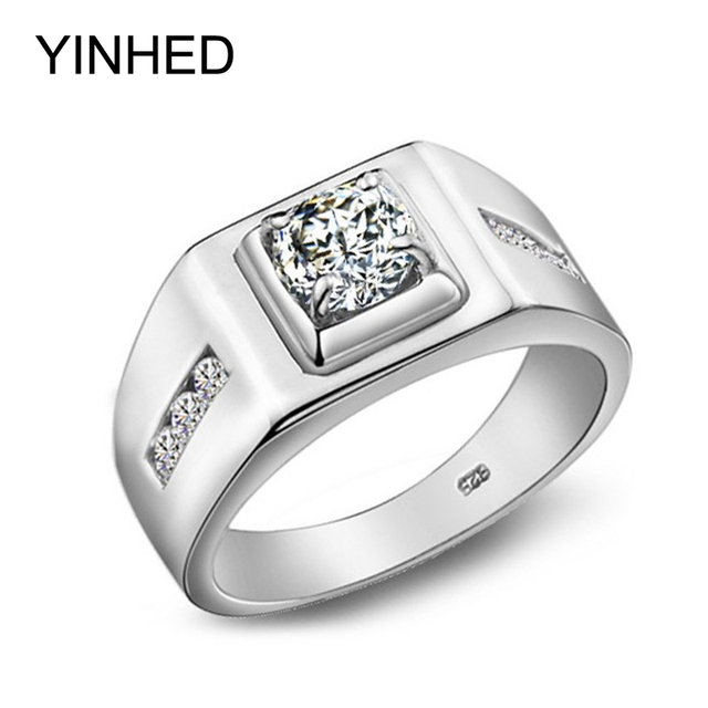 Yinhed Luxury Wedding Rings For Men 100 925 Sterling Silver Ring