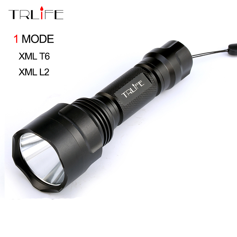 C8 1 Mode L2 Tactical Flashlight cree XML T6 XM-L2 Torch LED Waterproof Flash Light 18650 Rechargeable Battery 6000lumens bike bicycle light cree xml t6 led flashlight torch mount holder warning rear flash light