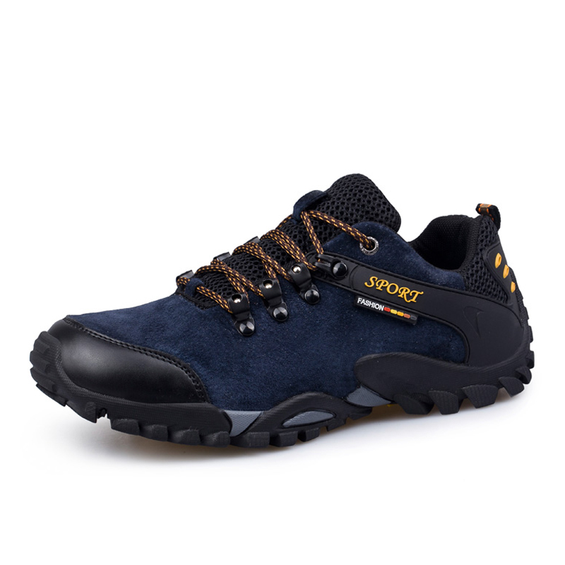 Light Weight Hiking Shoes Men Suede Leather Climbing Trekking Shoes Outdoor Mountain Walking Shoes For Men Sneakers Plus Size 46