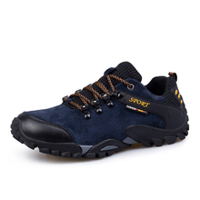 Full suede leather Men hiking shoes comfortable men Climbing walking shoes Men Athletic outdoor shoes for men Trekking snekaers
