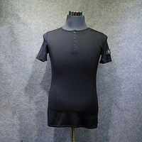 Latin Dance Top Men Short Sleeve Black Round Neck Shirt Male Competition Practice Dancewear Adult Rumba Samba Tango Wear DN3407