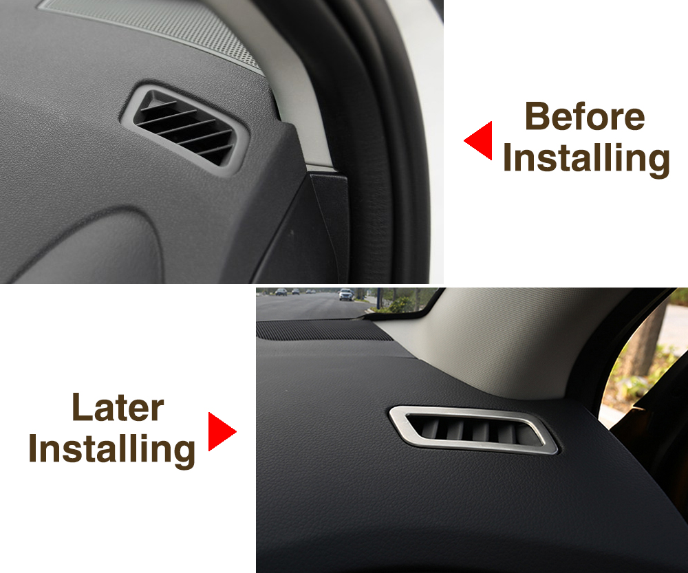 Trim Cover Fit 9 MOON Dashboard Air Condition Vent Outlet