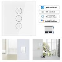 Timethinker EU UK Smart WiFi Curtain Switch Electric Curtain Motor White DIY Panel for Alexa Google Home Smart Life App Support