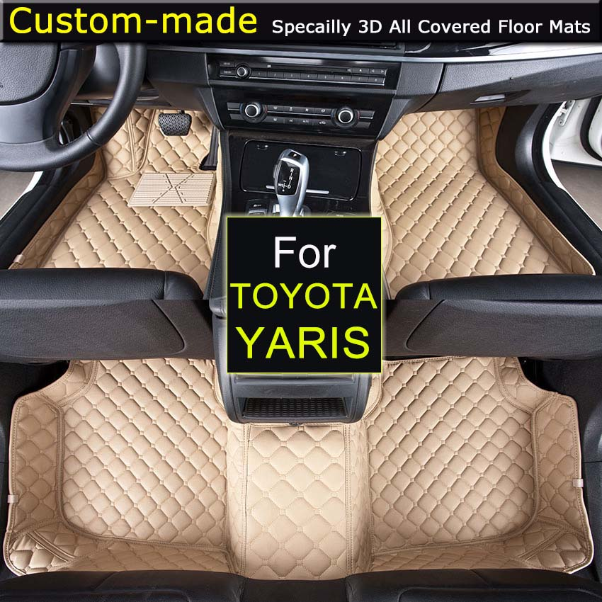 For Toyota Yaris 2005~ Car Floor Mats Car styling Foot Rugs Customized Auto Carpets Custom-made car floor mats for mazda 5 5 7 seats customized foot rugs 3d auto carpets custom made specially for mazda 2 3 5 6