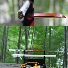Free Sword Bag Battle Ready 100% Hand Forged T10 1095 Red Spring Steel Sharp Cut Bamboo Japanese Ninja Sword Samurai Katana #AEG