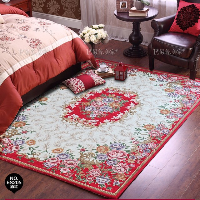 European style traditional Persian carpet , easy to wash big size floral living room rug ,coffee table carpet