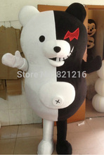Halloween Outfit Costumes suit Black and white bear cartoon mascot costume for adults Despicable Me show