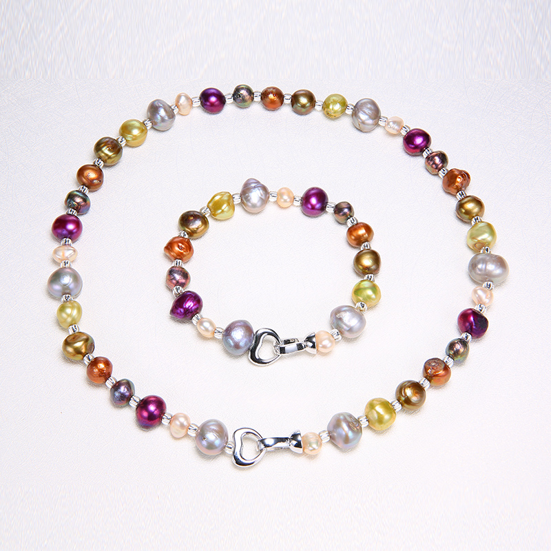 DAIMI Mixed Color  Pearl Set Pearl DIY Necklace Bracelet Natural Baroque Pearl Jewelry Gift For WomenDAIMI Mixed Color  Pearl Set Pearl DIY Necklace Bracelet Natural Baroque Pearl Jewelry Gift For Women