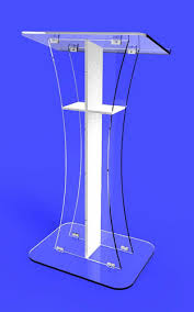 Free Shipping Detachable  Clear Acrylic Nails Plexiglass Church Pulpit Lectern Transparent Pmma Pulpit Clear Lectern