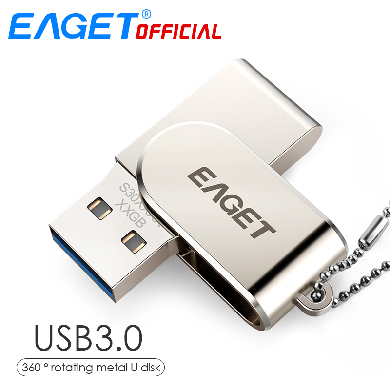 EAGET USB 3.0 Pen Drive USB Flash Drive 32GB Pendrive 16GB 360 Degree Rotating Disk USB  ...