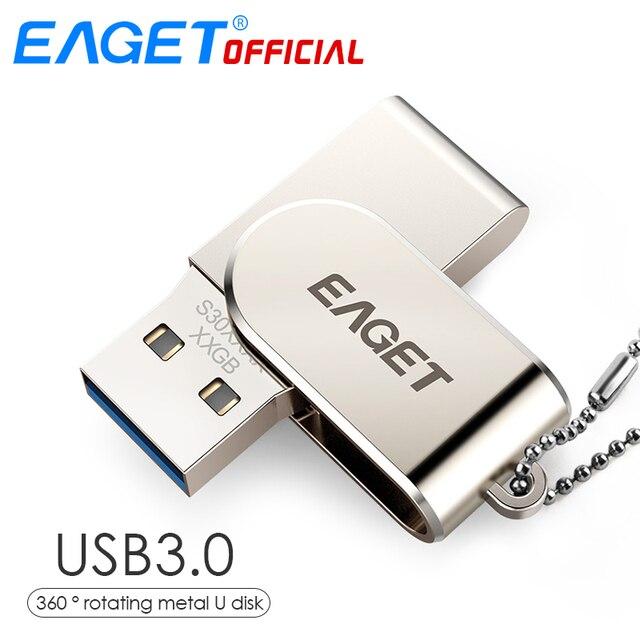 Pendrive USB 3,0 con memoria USB de 32 GB Pendrive 16 GB, disco giratorio de 360 grados, memoria USB para ordenador portátil