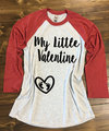 Meu Pequeno Dos Namorados Estilo Baseball Camisa Gravidez Camisa Dos Namorados. Colisão do bebê Camisa Dos Namorados. maternidade Camisa Dos Namorados